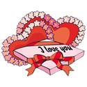 hearts with candy box