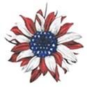 patriotic daisy