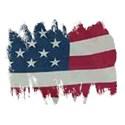 American Flag ragged edges