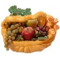 thanksgiving fruit in pumpkin basket