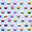light blue cupcake background paper