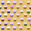orange cupcake background
