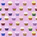 pink cupcake paper background