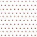 pink cupcake overlay layering