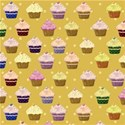 yellow cupcake layering paper