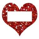 glitter red heart frame