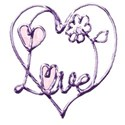 lilac love word art