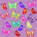 lilac large butterflies layering paper