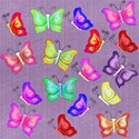 purple denim butterflies layering paper