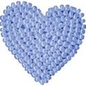 heart beaded blue