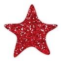 star glitter red