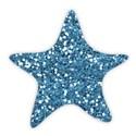 star glitter blue