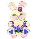 flower bunny blue tartan