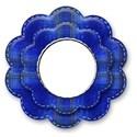blue flower rivet