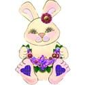 lilac bunny blue