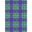 blue green checked layering paper