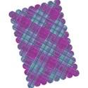 purple blue tartan layering paper