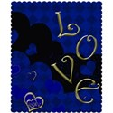 blue love layering paper