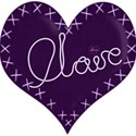 lilac claire heart