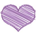 lilac scribble heart