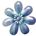 blue flower shiney