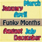Funky Months Red & Blue