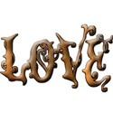 Gold grad Love345 bevel