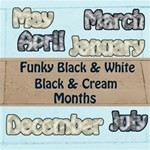Funky Months Black  White & Cream