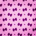 purple bow spotty