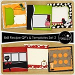 8x8 Recipe Cards - Set 2