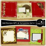 8x8 Recipe Cards - Set 4