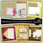 8x8 Recipe Cards - Set 5