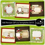 8x8 Recipe Cards - Set 8