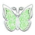 green diamonte jewelled butterfly