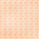 orange flower funky print layering  paper