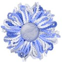 lighter blue knitted flower