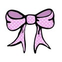 pink spotty bow