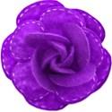 stitched purple rose