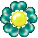 turquoise flower 2