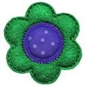 green blue felt flower