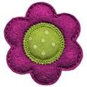 purple green felt flower