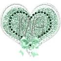 green heart love bow