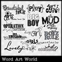 Boys and Girls Word Art
