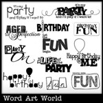 Birthday Fun Word Art