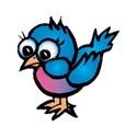 bird cute blue bird - Copy - Copy