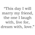 I Will Marry My Friend