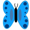 Blue butterfly with spots