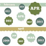 It s a Date -- Neutral Color Months & Dates