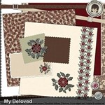 My Beloved with Scrapbook Album Pages