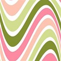pink and green waves background